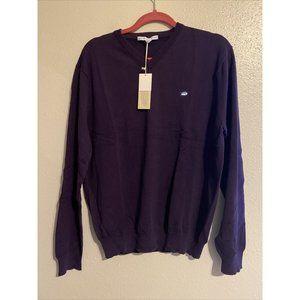 Southern Tide Men's V-Neck Purple L/S Sweater NWT